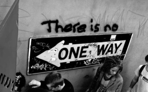 'There Is No One Way', World Economic Forum protest.